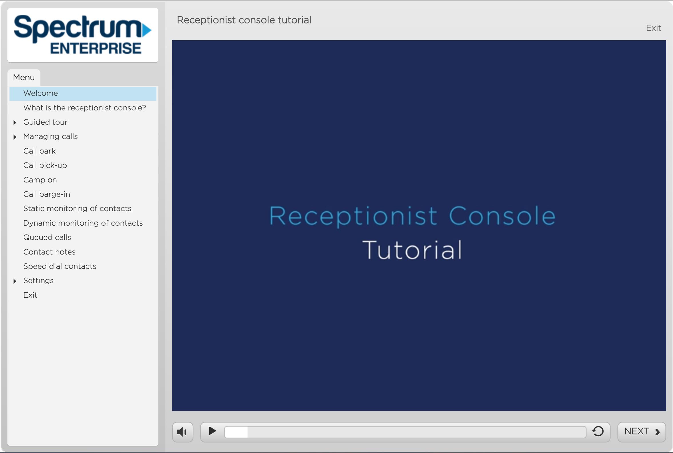 Receptionist console tutorial